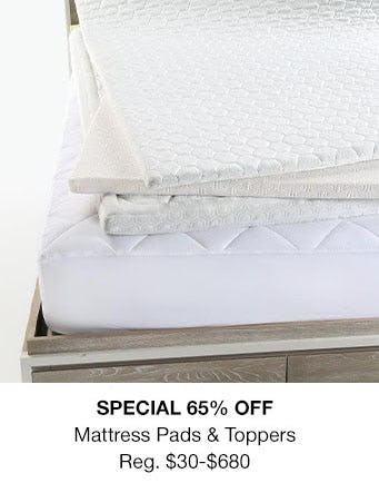 65% Off Mattress Pads & Toppers