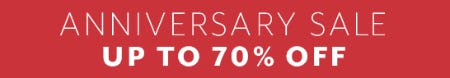 Anniversary Sale Up to 70% Off