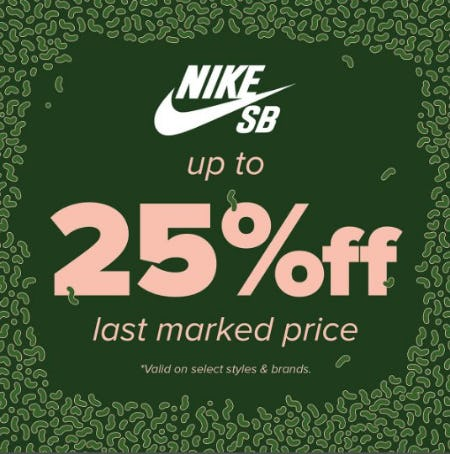 Nike SB up to 25% Off Last Marked Price from Zumiez