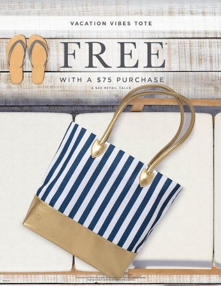 Vacation Vibes Tote Free With a $75 Purchase from Crabtree & Evelyn