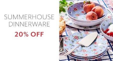 20% Off Summerhouse Dinnerware from Sur La Table