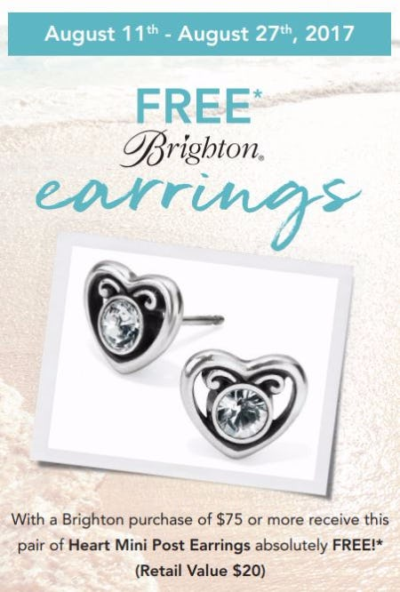 FREE Brighton Earrings - Hearts of Summer