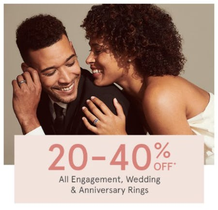 20-40% Off All Engagement, Wedding, & Anniversary Rings from Kay Jewelers