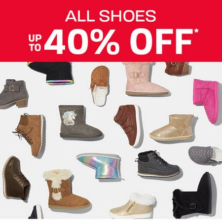 All Shoes Up to 40% Off