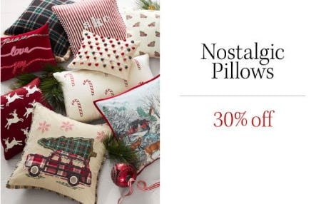 30% Off Nostalgic Pillows from Pottery Barn