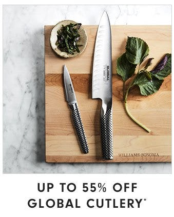 Up to 55% Off Global Cutlery from Williams-Sonoma