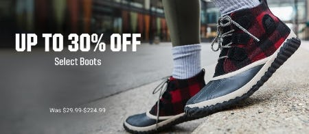 Up to 30% Off Select Boots