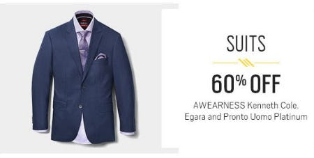 60% Off Suits from Men's Wearhouse and Tux