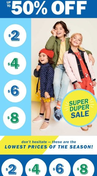 Kids & Baby on Sale up to 50% Off from Old Navy