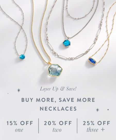 Buy More, Save More Necklaces Up to 25% Off from Kendra Scott