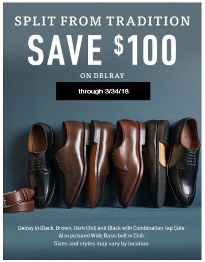 $100 Off Delray Shoes from Allen Edmonds