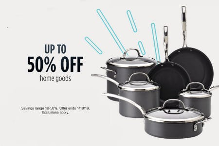 Up to 50% Off Home Goods from Sears