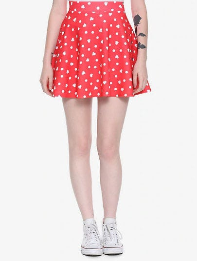 Disney Minnie Mouse Red Skater Skirt from Hot Topic