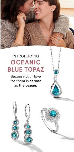 Introducing Oceanic Blue Topaz from Kay Jewelers