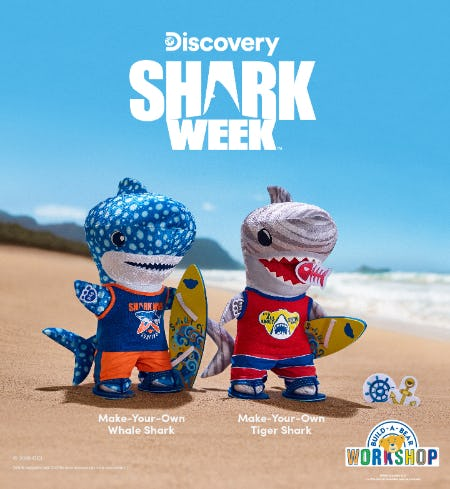 Take a Deep Dive into the NEW Shark Week Collection at Build-A-Bear Workshop!