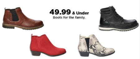 $49.99 & Under Boots from Kohl's