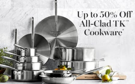 Up to 50% Off All-Clad TK Cookware