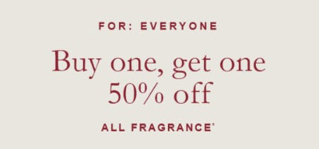 BOGO 50% Off All Fragrance