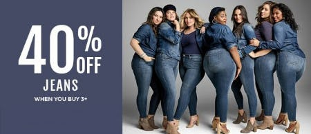 40% Off Jeans When You Buy 3+ from Torrid