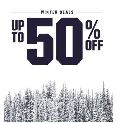 Winter Deals up to 50% Off