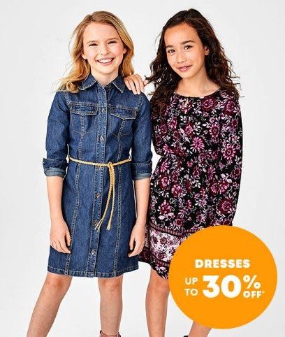 Dresses up to 30% Off