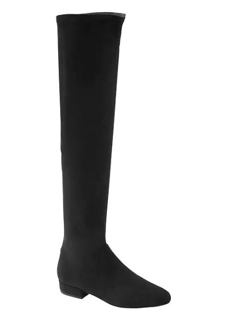 Vegan Suede Over-the-Knee Boot from Banana Republic