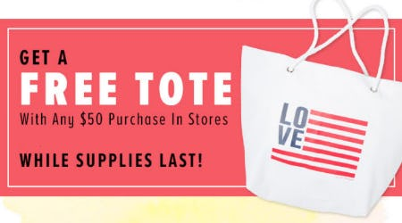 Free Tote with $50 Purchase from New York & Company