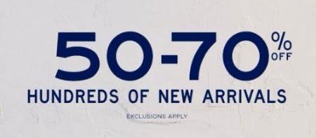 50-70% Off Hundreds of New Arrivals