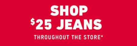 $25 Jeans Throughout the Store from Hollister Co.