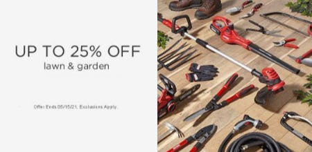 Up to 25% Off Lawn & Garden from Sears