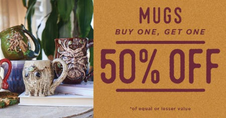 BOGO 50% Off Mugs from Earthbound Trading Company