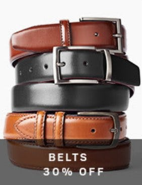 Belts 30% Off from Men's Wearhouse