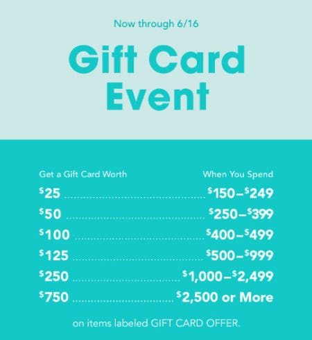 Up to $750 Gift Card Event from Bloomingdale's