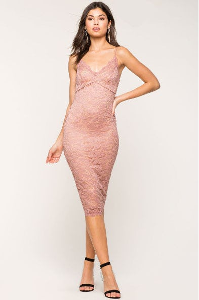 Bella Lace Column Dress