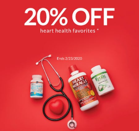 20% Off Heart Health Favorites from The Vitamin Shoppe