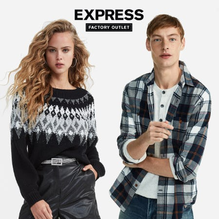 Everything 50% Off from Express Factory