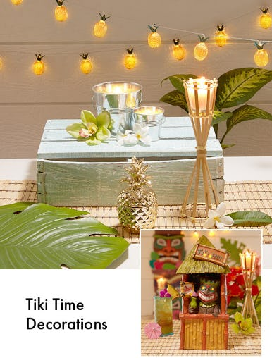 Tiki Time Decorations from Party City