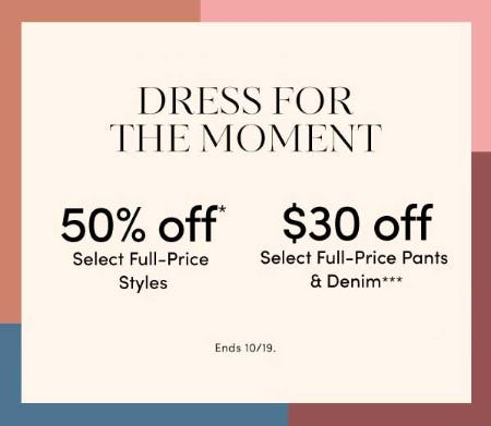 50% Off Select Full-Price Styles from Ann Taylor