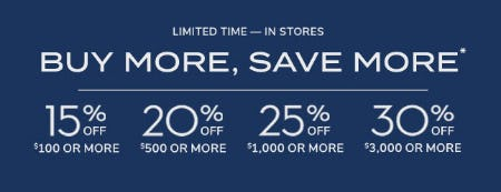 Buy More, Save More from Pottery Barn