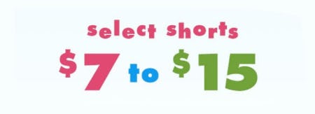 $7 to $15 Select Shorts