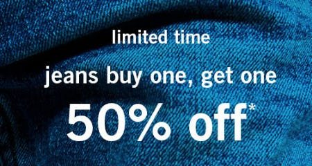 Jeans Buy One, Get One 50% Off from abercrombie kids