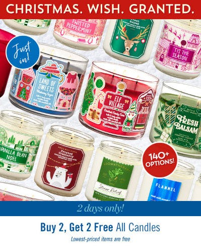 B2G2 Free All Candles from Bath & Body Works/White Barn
