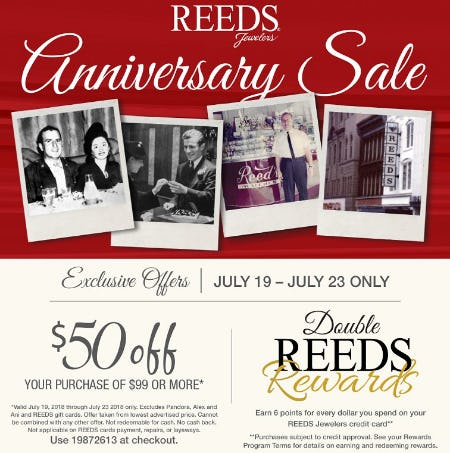 REEDS Anniversary Sale from Reeds Jewelers