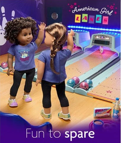 Our New Bowling Set from American Girl Place