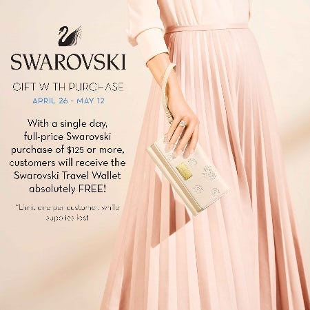 Swarovski Gift with Purchase from Von Maur