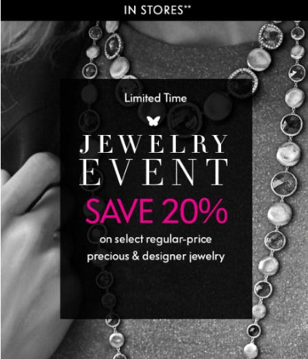 20% Off Jewelry Event from Neiman Marcus