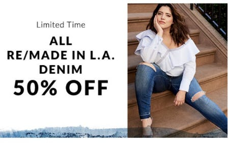 50% Off Remade Denim from Lane Bryant