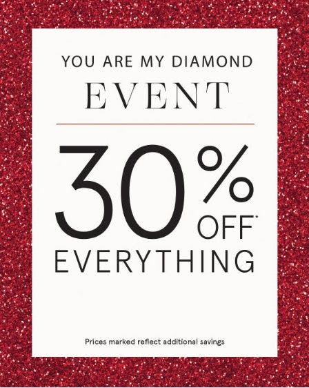 30% Off Everything from Zales The Diamond Store