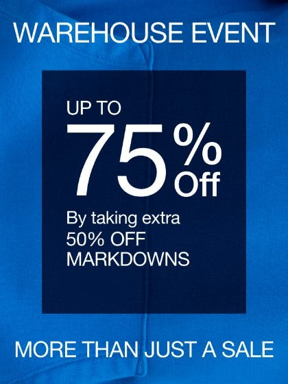 Warehouse Event: Up to 75% Off from Gap