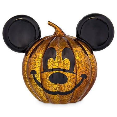 Mickey Mouse Light-Up Glass Jack O'Lantern